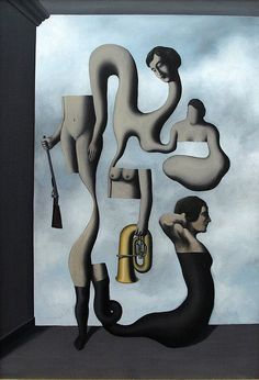 Die Ubungen der Akrobatia by Rene Magritte  http://yelenaartstudio.com/