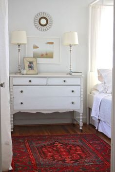 i have a very similar dresser that needs to be painted... i like this color combo