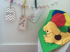 Handmade Bandana Bib - Spot the Dog for Babies and Toddlers - Dribble and Drool