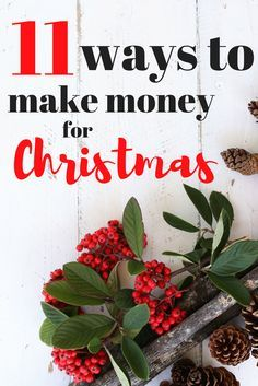 Christmas is just around the corner and you'll be needing extra money for Christmas food and Christmas gifts pretty soon!  Learn some ways to make money for christmas, extra cash for christmas! #Christmas #Money #makemoney #holiday