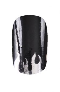 HND Nail Wraps - Fire Black and Silver | Hollywood Nail Design £5.50 for a pack of 15.