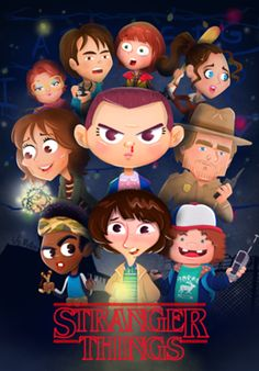 Stranger Things: Character Design & Illustration on Behance Poster Stranger Things, Stranger Things Characters, Stranger Things Season 3, Stranger Things Funny, Eleven Stranger Things, Stranger Things Netflix, Joyce Byers, Cartoon Posters, Illustration