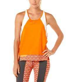 Loving this Flame Orange Velocity Tank on #zulily! #zulilyfinds