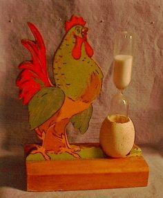 Vintage Rooster & Egg Sand Timer
