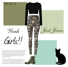 """""""Camo Jeans"""" by trendy21com on Polyvore featuring Anouki"""