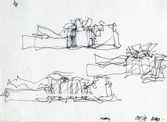 Architect's drawings (malestrom) - from Architect's drawings (malestrom) Фрэнк Гери Музей Гугенх - Portfolio Architect, Architect Drawing, Frank Gehry Sketch, Arquitectos Zaha Hadid, Guggenheim Museum Bilbao, Conceptual Sketches, Model Sketch, Sketch Drawing, Drawing Tips