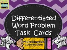 Differentiated Word Problem Task Cards: Multiplication (2