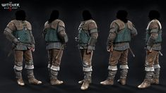 Some main NPC's outfits I did for The Witcher 3 - Wild Hunt Witcher 3 Armor, The Witcher 3, Zbrush, Video Game Artist, New Fantasy, Medieval Costume, Wild Hunt, Fantasy Illustration, Fantastic Art