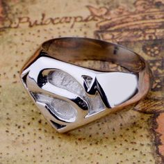 Superman Stainless Steel Ring #ring #superman #fashion #menwear
