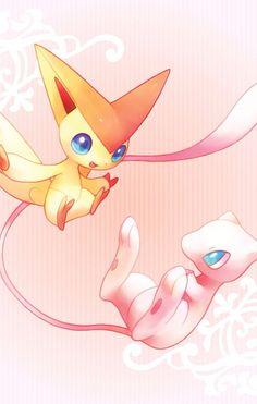 Mew y victini pokemon ♡ Ninetales Pokemon, Solgaleo Pokemon, Pokemon Super, Pokemon Fan Art, Cool Pokemon, Pokemon Craft, Nintendo Pokemon, Pokemon Original, Mew And Mewtwo
