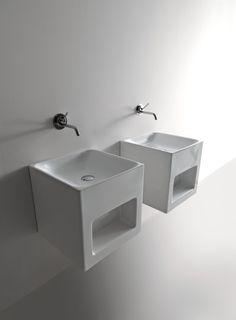Il lavabo in cento millimetri Kerasan, per un arredo bagno dal design unico