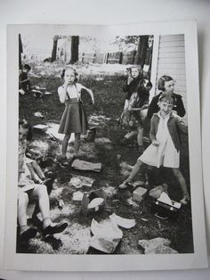 We Trashed the Place . . .  1940s Vintage Snapshot