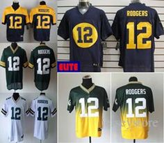 Online Cheap New  12 Aaron Rodgers Jersey Stitched Packers Jerseys Cheap  Size M Xxxl Discount 467556640