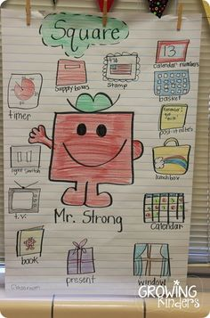 fun with shapes using the Mr Men books