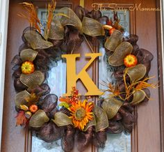 So making this DIY wreath for fall!