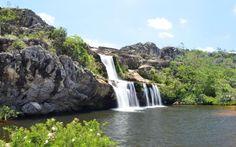 Cachoeira dos Cristais, em Diamantina, MG.