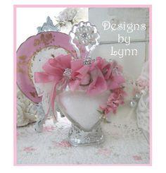 victorian romantic shabby bottles | Beautiful Bejeweled Bottle 128 Romantic Victorian Lady & Pink Roses ...