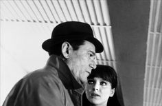 Alphaville, une étrange aventure de Lemmy (1965) Director: Jean-Luc Godard...Lemmy and Natacha..( Eddie Constantine, Anna Karina,)