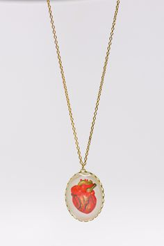Now or Never Anatomical Heart Necklace
