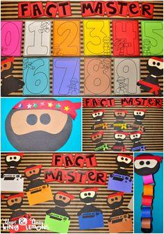 Ninja fact master:  addition and subtraction fact fluency