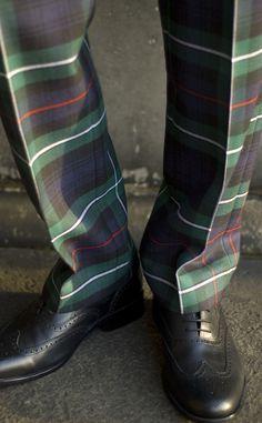 Military-Style Fishtail Back Tartan Trews by Scotweb Traditional Scottish Menswear