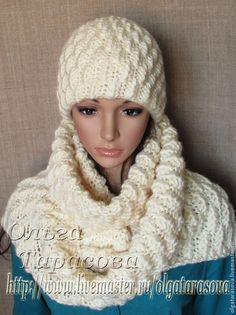 Шапка на подкладе + шарф, авторский комплект - бежевый,шапка зимняя,шапка женская
