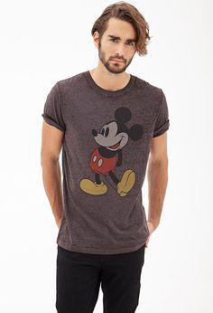 Hahahaha cute guy rockin the Mickey Mouse Graphic Tee #21Men