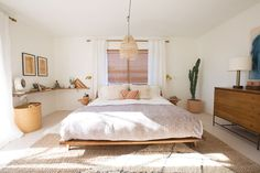 Bedroom with king size mattress and private courtyard