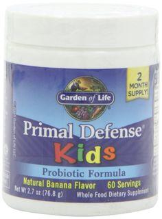 garden of life primal defense kids natural banana flavor 768g powder