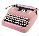 Pink Smith Corona typewriter!