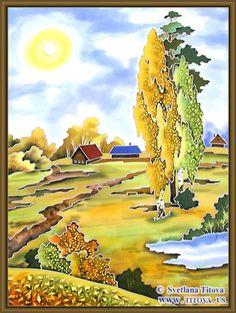 Svetlana Titova Gallery,Silk Painting .