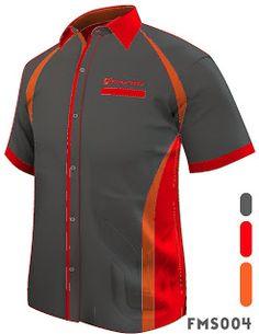 FMS004 F1 SHIRT MALE SHIRT SHORT SLEEVE Orange Based Shirts