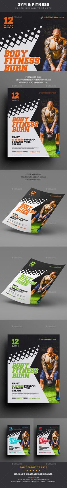 Pizza - Template for Poster \/ Flyer Flyer template, Pizzas and - Gym Brochure Templates