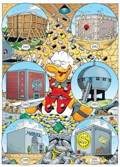 "Uncle Scrooge's many ""money bins"""