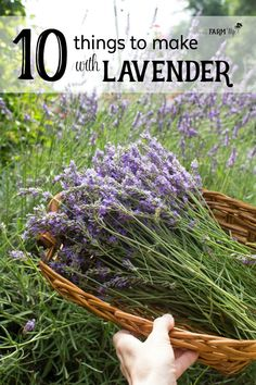 10 Things to Make With Lavender - Have a bountiful crop of lavender from your garden, local farmer's market or a trip to a lavender farm, but not sure what to do with it? Here are 10 useful and pretty things that you can make with that beautiful lavender Beauty Secrets, Beauty Tips, Beauty Hacks, Beauty Care, Diy Beauty, Lavender Crafts, Lavender Ideas, Lavender Recipes, Lavender Bags