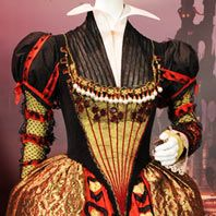 Gown worn by Helena Bonham Carter as the Red Queen in Alice in Wonderland. Costumes by Colleen Atwood.