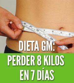 La dieta GM te hace perder 8 kilos en 7 días. Esta dieta no requiere tomar pastillas peligrosas o tratamientos nocivos. Adelgaza rápido con General Motors