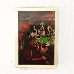 Dogs Playing Poker Vintage Playing Cards Dad's Lucky Deal Father's Gift Good Luck Sealed Deck by ThriftyTheresa
