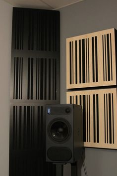 Audio Studio, Music Studio Room, Home Recording Studio Setup, Recording Booth, Bass Trap, Audio Room, Acoustic Panels, Sound Proofing, Black Fabric