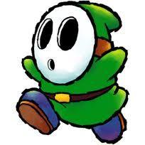 Green Shy Guy old school art, love it