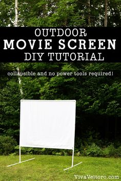 DIY outdoor movie screen - perfect for family movie nights!