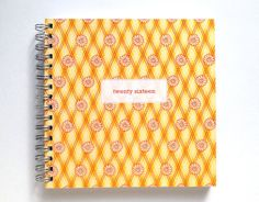 2016 Weekly Planner/Diary - Handmade by Miss Meg Shop #2016 #twentysixteen #planner #diary #stationery #handmade #etsy #missmegshop #recycled #paper #fabric #yellow #daisy #organise #organize #newyear #newyearsresolutions #goals