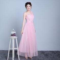FADISTEE Elegant Long Bridesmaid Dresses Appliques Lace beading lace-up  style Wedding Party Dress  e8fa4bd8bcc6