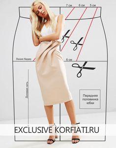 Шьем юбку с каскадными складками Черная юбка из трикотажа не полнит, даже несмотря на обилие каскадных складок и кокилье. А весь секрет этой юбки — в струящейся тонкой ткани. Такая модель идеально подойдет тем...