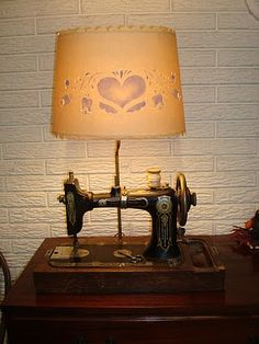 Old Western Electric sewing machine made into a lamp