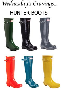Wednesday's Cravings... Hunter Boots - My Fash Avenue