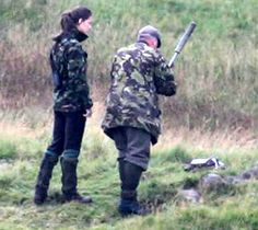 Kate Middleton goes deer hunting with Will October of 2007