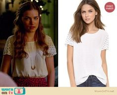 Joie Hanneli Tee worn by Willa Fitzgerald on Royal Pains