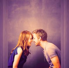 I LOVE THIS SO MUCH. Emma Stone + Ryan Gosling = Perfection.