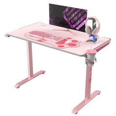 """Eureka Ergonomic Lovely pink battle station - for those who want to look adorable and fabulous. Color: Pink 